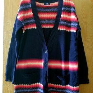 Gap Navy Blue Wool Boyfriend Cardigan